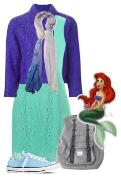 """Ariel"" by jawind ❤ liked on Polyvore featuring moda, MSGM, True Decadence, Furla, Herschel, Converse y Disney"