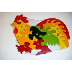 Woodworking Jigsaw Wooden Hen Number Childrens Jigsaw Puzzle ,,, Wooden Puzzles Handmade for ur Kids. Woodworking Jigsaw, Intarsia Woodworking, Best Jigsaw, Intarsia Patterns, Wooden Jigsaw Puzzles, Puzzles For Kids, Scroll Saw, Wood Toys, Wood Crafts