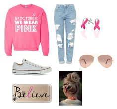 """""""Pink"""" by egloomis on Polyvore featuring Topshop, Converse, Casetify, Ray-Ban and Bling Jewelry"""