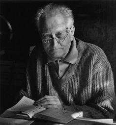 Manosque, last portrait of Jean Giono, 1968 by Jean Dieuzaide