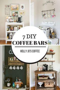 7 Cute Diy Coffee Bars