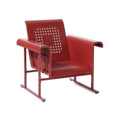 Danny Glider Chair in Red