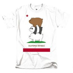 We Bare Bears Cali Stack Adult White Shirt
