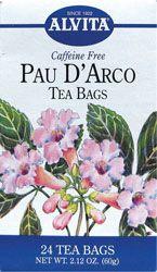 Alvita Tea Bags, Pau D'Arco, Caffeine Free, 24 tea bags oz) 60 g (Pack of Health & Personal Care Natural Remedies For Arthritis, Natural Cancer Cures, Holistic Remedies, Natural Cures, Natural Healing, Natural Treatments, Candida Cleanse, Candida Diet, Caffeine Free Tea
