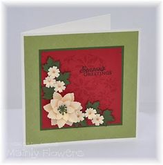 Mainly Flowers Independent Stampin' Up! Demonstrator Joanne Gelnar: Poinsettia Cards from Class