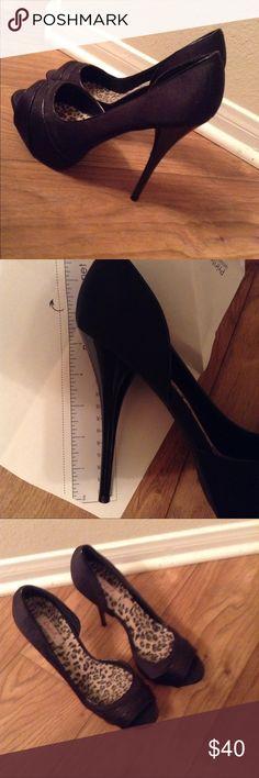 Black heels So cute never worn outside Shoes Heels