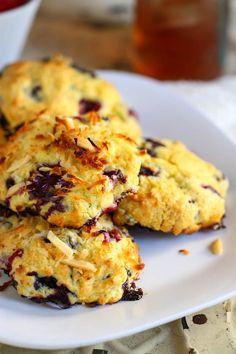 Coconut Blueberry Muffin Tops via @Jenna (Eat, Live, Run)