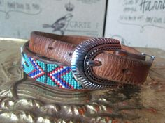 Beaded Indian Native American Navajo Style by glamtownvintage, $18.00