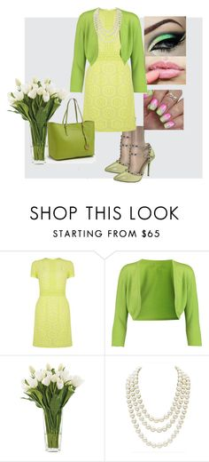 """""""Green and yellow pumps"""" by puddycatshoes ❤ liked on Polyvore featuring Wild Diva, Oasis, Oscar de la Renta, NDI and Chanel"""