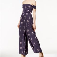 Free People super star jumpsuit Blue fabulous jumpsuit goes with everything this is one of the jumpsuits you must have wide leg makes everyone look great Free People Pants Jumpsuits & Rompers