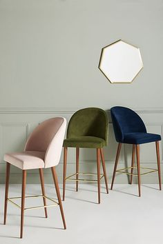 Velvet Moritz Counter Stool- Best Room Decorations for Your Home Kitchen Counter Stools, Kitchen Chairs, Home Decor Kitchen, Dining Chairs, Bar Chairs, Desk Chairs, Room Chairs, Reading Chairs, Design Kitchen