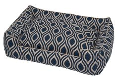 Seeds Navy Lounge Love this print in our new Spring/Summer line of modern dog beds at 3 Shades of Dog #Dog Bed, #Dog Beds, #Modern Dog Beds, #Luxury Dog Bed