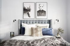 Reminiscing on one of our favourite custom creations for The Block 💙 The stunning Waldorf bedhead for Hannah and Clint dressed in Canterbury Lagoon Linen. Bedroom Photos, Bedroom Inspo, Home Bedroom, Modern Bedroom, Master Bedroom, Bedroom Inspiration, The Block Australia, Australia 2017, House Layouts