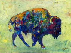 buffalo oil - would be neat for our joint project living room painting
