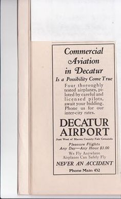 This ad is from the Decatur Motorist Magazine dated August 1926