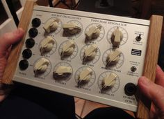 A Blippoo Box by Rob Hordijk.  This machine is incredibly organic. Probably the equivalent of a petri dish in electronic music. Mine has a IR movement sensor and my favourite setup with it is to pair with a BBD analog delay on a guitar amp...