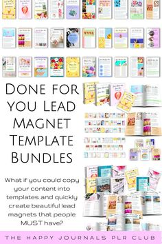 What if you could copy your content into ready-made templates and quickly create beautiful looking lead magnets that people MUST have? When you start an email list, you have a built-in audience of interested customers and prospects – no need to look for people to buy your product every time you have a new one. Printables, ebooks & short reports are an amazing way to get potential customers to share their information with you. What To Sell Online, Earn Money Online, Make Money From Home, Way To Make Money, Lead Magnet, Journal Template, Twitter Image, Note Paper, Email List