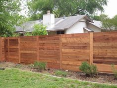 Modern Horizontal Fencing In Austin is catching on Fast....   Yelp