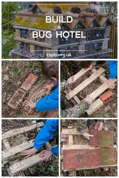 Our project of the week - build a bug hotel! Outdoor Learning, Outdoor Play, Outdoor Projects, Garden Projects, Forest School Activities, Eco Garden, Bug Hotel, Urban Nature, Woodland Garden