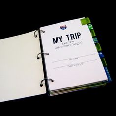 printable vacation diary....great idea, prepare pages for each day, and envelopes to add keepsakes!