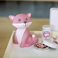 Pink Raspberry Fox Night Light For Kids - Atelier Pierre