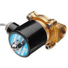 Latón dc 24v 1/2 pulgadas combustibles aéreos de agua eléctricos de la válvula solenoide de gas