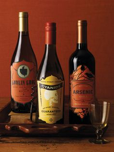 Halloween Wine Labels.  Too funny IMPDO.