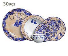 Jogo de Jantar Pendants Azul - Para 06 Pessoas