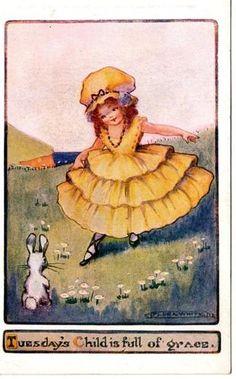 Flora White postcard - Tuesday's Child