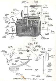 55 Chevy Window Diagram
