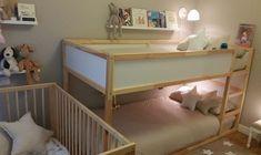 Habitación infantil compartida por tres hermanos - Mamidecora.com