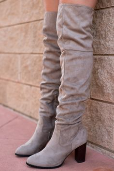 Zinc over the knee boots taupe
