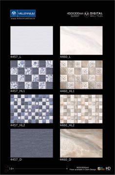 Backsplash Tiles 4457 & 4460 - Millennium Tiles 300x450mm (12x18) Digital Ceramic High Definition Glossy #Patterns Wall #Tiles Series The matching floor tiles are available in 300x300mm (12x12) in the dark colours (D) - 4457_L - 4457_HL1 - 4457_HL2 - 4457_D - 4460_L - 4460_HL1 - 4460_HL2 - 4460_D  - #Backsplash: A tiled area by, for example, a sink, cooker or bath to prevent damage to a wall by food or water splashes.