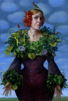 Artist Statement The imagery I create comes from an interest in combining female iconography with still life painting. Each image is an amalgamation of various San Francisco Art, Surrealism Painting, Pop Surrealism, Girls With Flowers, Magic Realism, Woman Painting, Surreal Art, Art History, Floral