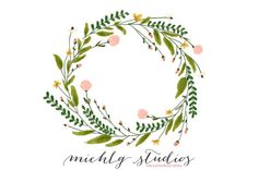 PNG floral digital clip art wreath 1 by michLgstudios on Etsy