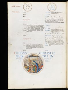 A somptuous representation of the birth of Jesus Christ. The Virgin Mary dressed in blue and two angels are praying above the baby. Christmas Jesus, Christmas Scenes, Birth Of Jesus Christ, Illuminated Manuscript, Virgin Mary, Geneva, Nativity, Pray, Medieval
