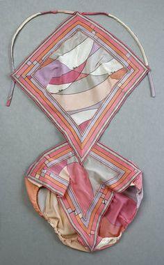 Emilio Pucci Bathing Suit ca. 1969 nylon