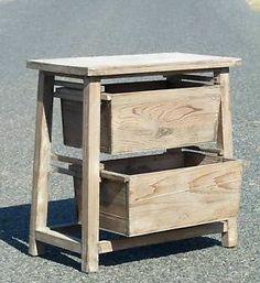 Style Ancienne Etagere Cosnole A Casier BAC Caisse DE Rangement EN Bois | eBay