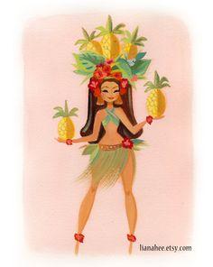 Pineapple Princess Laki by LianaHee on Etsy