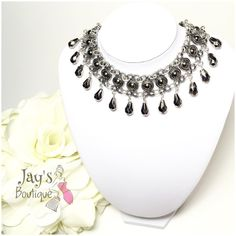 HOST PICK 01/08silver Chocker Necklace Beautiful Charcoal silver Choker Necklace. HOST PICK 01/08/15 By @tanyakara Jewelry Necklaces