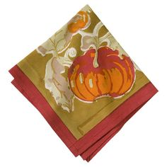 Add an autumnal touch to your festive gatherings and everyday meals with this handmade cotton napkin, featuring a pumpkin motif.   ...