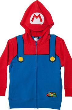 Youth Mario Costume Hoodie