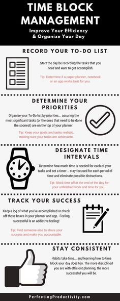 How to Conquer Your Work Schedule & Get More Done, basic tips that improve your productivity and consistency. Learn how to block off time and set your priorities. Being productive means a happier more successful you. #productive #success #time— Perfecting Productivity