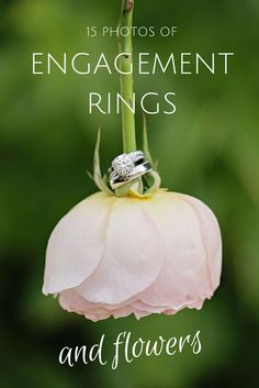 Want to capture your engagement ring flawlessly? Flowers make for the perfect backdrop – here are 15 photos to show you what we mean.