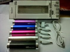 The cheapest power bank 2600 mah tube from us ready stock many colours
