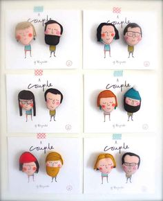 Customized Couple Magnets