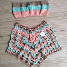Croptop Crochet, Crochet Romper, Crochet Bikini Pattern, Crochet Skirts, Diy Crochet, Crochet Clothes, Crochet Top, Crochet Designs, Crochet Patterns