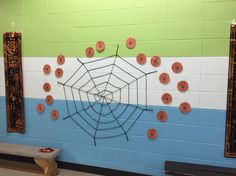 Pin-the-spider game...so easy and tons of fun for the kids!