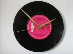"Ottawan- d.i.s.c.o.    7""  vinyl record clock  £6.99"