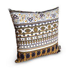 African Lesso Fabric Cushion by Sleepy Giraffe on Etsy, $30.00